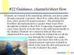 22 guidance channels sheet flow