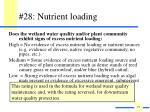 28 nutrient loading