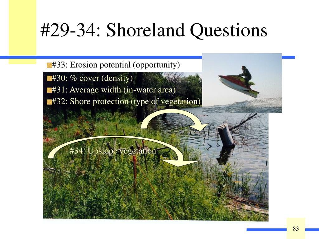 #29-34: Shoreland Questions