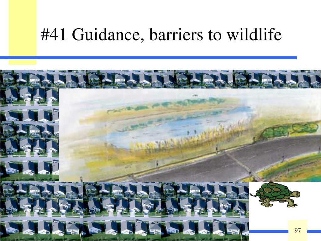 """This variable is defined as a measure of habitat fragmentation of the wetland relative to other wetlands and native plant communities to indicate the ecosystem connectivity. It identifies barriers to wildlife migration ranging from very small barriers such as unpaved roads and low-density housing to large hydrologic barriers such as regional canals and levied roads. Reference area will affect this rating: """"other habitats"""" includes upland areas usable as wildlife resting or reproductive habitat."""