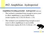 42 amphibian hydroperiod