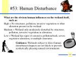 53 human disturbance