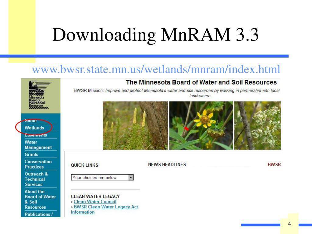 Downloading MnRAM 3.3