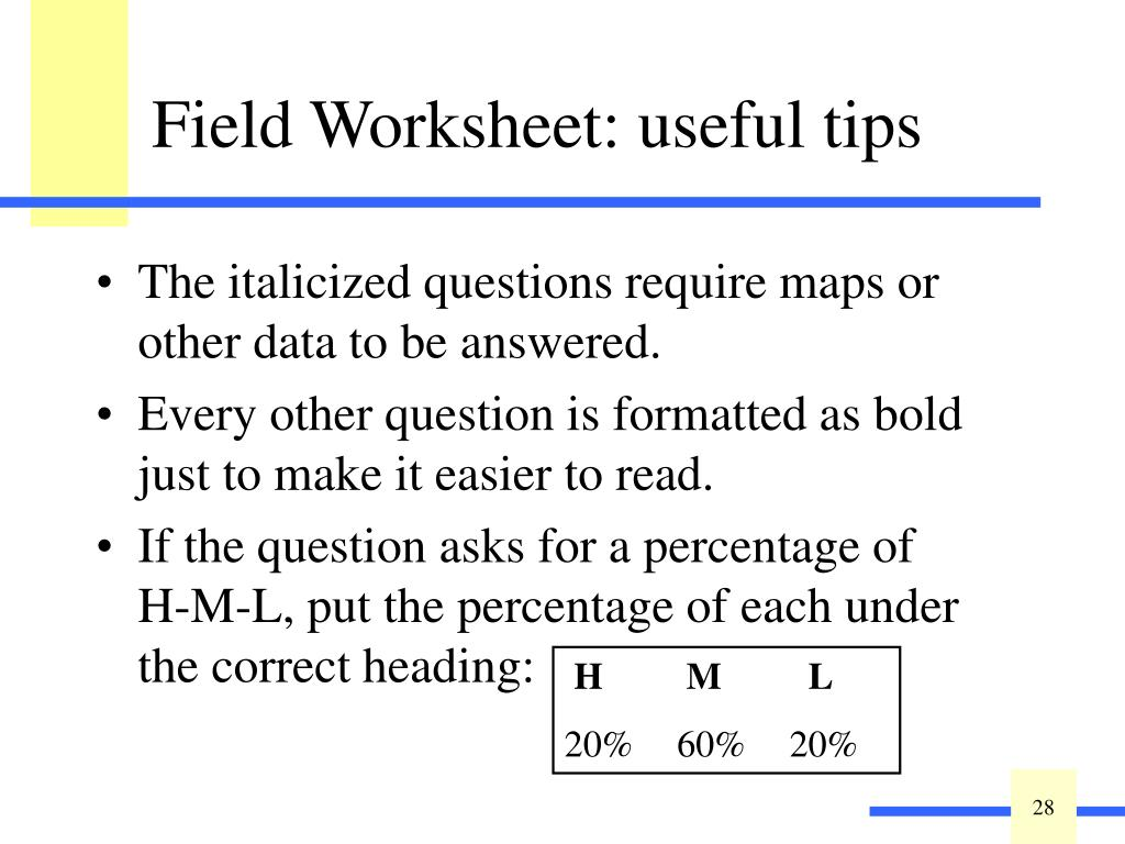 The italicized questions require maps or other data to be answered.