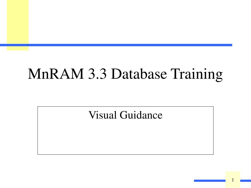 mnram 3 3 database training l.