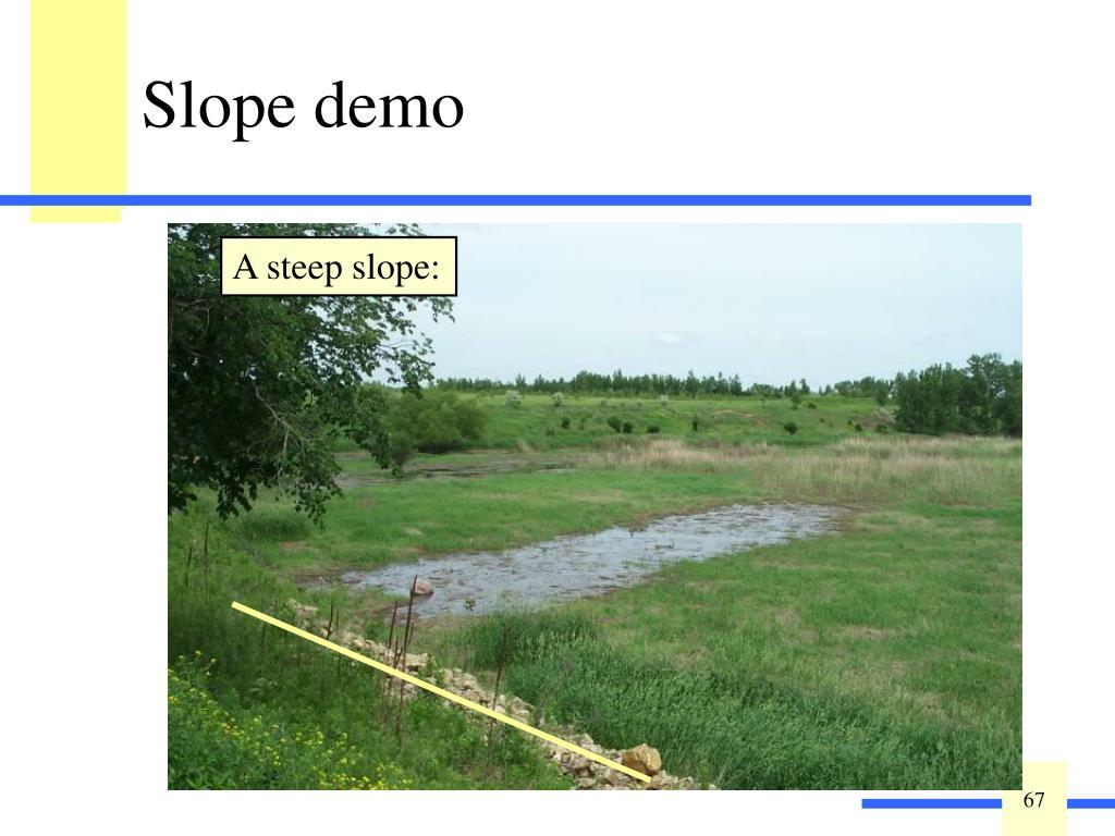 A steep slope: