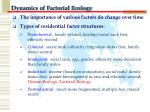 dynamics of factorial ecology