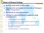 roots of human ecology