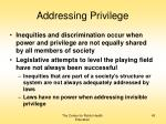 addressing privilege