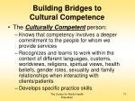 building bridges to cultural competence71
