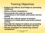 training objectives7