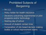prohibited subjects of bargaining