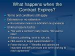 what happens when the contract expires
