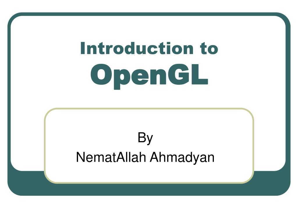 introduction to opengl