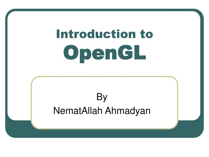 introduction to opengl n.