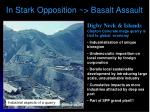 in stark opposition basalt assault