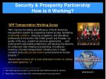 security prosperity partnership how is it working