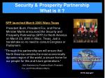 security prosperity partnership what is it