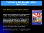 the push to sell canada s water blue gold