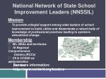 national network of state school improvement leaders nnssil