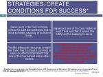 strategies create conditions for success