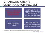 strategies create conditions for success17