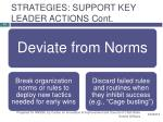 strategies support key leader actions cont