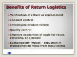 benefits of return logistics