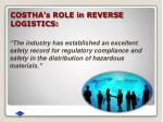 costha s role in reverse logistics