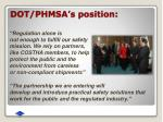 dot phmsa s position