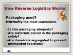 how reverse logistics works