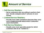 amount of service