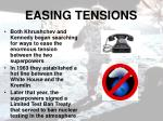 easing tensions