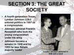 section 3 the great society