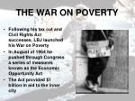 the war on poverty
