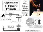 applications of pascal s principle