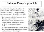 notes on pascal s principle