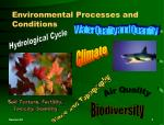 environmental processes and conditions