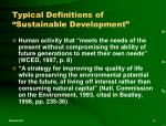 typical definitions of sustainable development