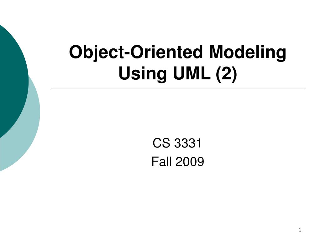 object oriented modeling using uml 2 l.