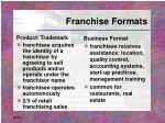 franchise formats