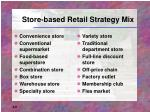 store based retail strategy mix