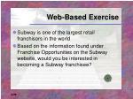 web based exercise