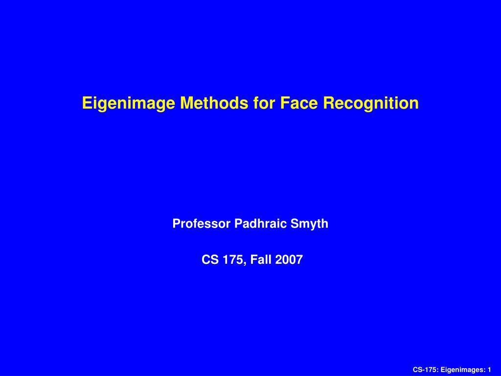 eigenimage methods for face recognition l.