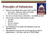 principles of submission
