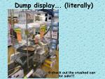 dump display literally