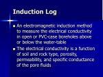induction log