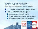 what s open about oi