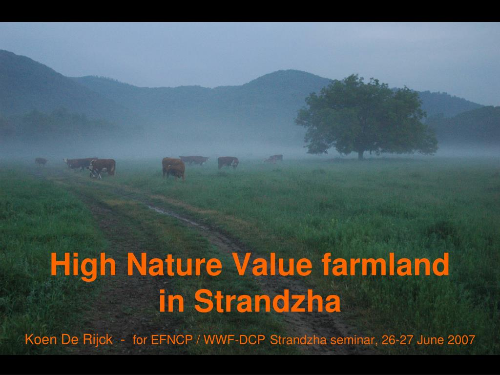 high nature value farmland in strandzha l.