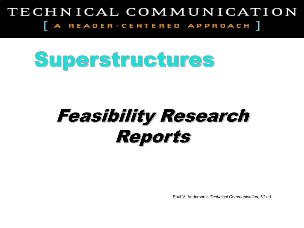 feasibility research reports l.